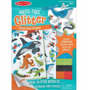 Mess free glitter