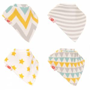 Gold and Silver Zippy Bibs