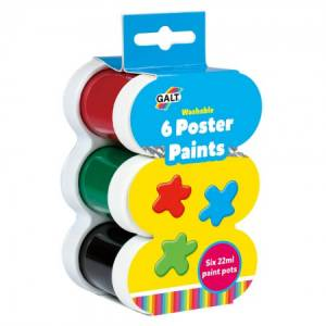 6 Poster Paints - Washable