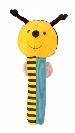 Fiesta Crafts Bee Rattle and Squeaker Squeakaboo Toy