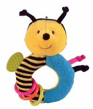Fiesta Crafts Bee Rattle and Teether Ringaling Toy