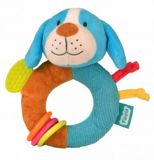 Fiesta Crafts Dog Rattle and Teether Ringaling Toy