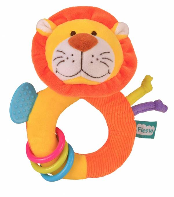 Fiesta Crafts Lion Rattle and Teether Ringaling Toy