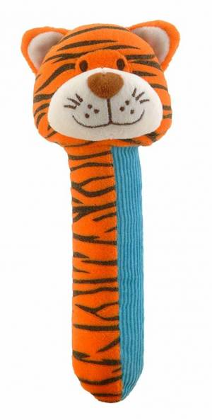 Fiesta Crafts Tiger Rattle and Squeaker Squeakaboo Toy