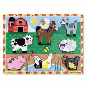 Melissa & Doug Farm Chunky Puzzle