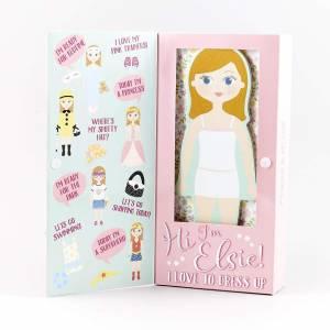 Floss & Rock Magnetic Dress Up Wooden Doll (Elsie)