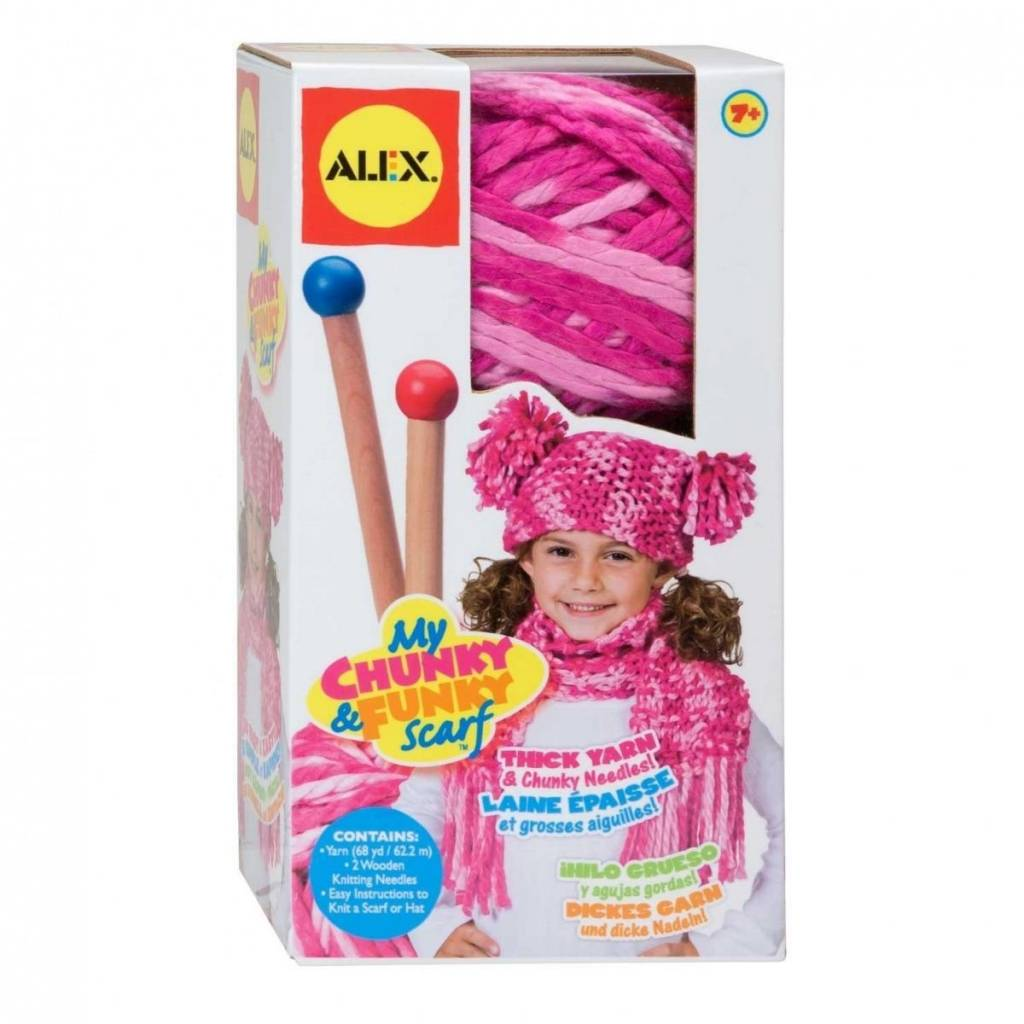 ALEX Toys - Chunky & Funky Scarf Pink